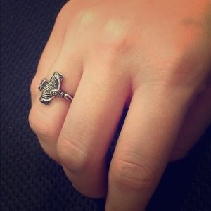 Jewelry - Sterling silver crucifix ring